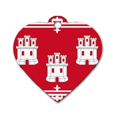 Flag Of Aberdeen Dog Tag Heart (two Sides) by abbeyz71