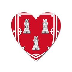 Shield Of The Arms Of Aberdeen Heart Magnet by abbeyz71