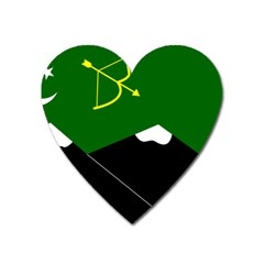 Flag Of Hunza  Heart Magnet by abbeyz71