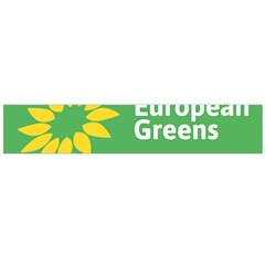 Logo Of The European Green Party Large Flano Scarf  by abbeyz71