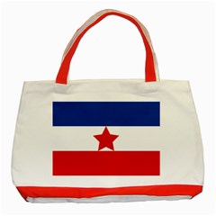 Flag Of Yugoslav Partisans Classic Tote Bag (red) by abbeyz71