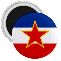 Flag Of Yugoslavia, 1946-1992 3  Magnets by abbeyz71