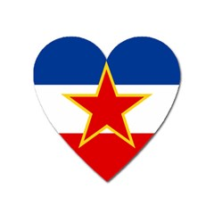 Civil Ensign Of Yugoslavia, 1950-1992 Heart Magnet by abbeyz71