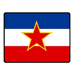 Civil Ensign Of Yugoslavia, 1950 1992 Double Sided Fleece Blanket (small)  by abbeyz71
