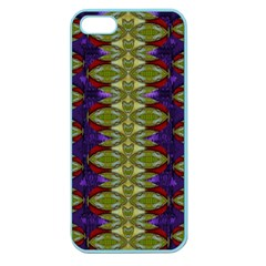 Divine Flowers Striving To Reach Universe Apple Seamless Iphone 5 Case (color) by pepitasart