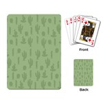 Cactus pattern Playing Cards Single Design Back