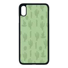 Cactus Pattern Iphone Xs Max Seamless Case (black) by Valentinaart