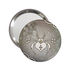 Wonderful Decorative Spider With Hearts 2 25  Handbag Mirrors by FantasyWorld7
