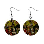 Hieronymus Bosch The Garden Of Earthly Delights (closeup) Hieronymus Bosch The Garden Of Earthly Delights (closeup) 3 Mini Button Earrings Front