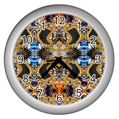 Luxury Abstract Design Wall Clock (silver)