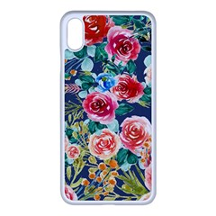 Watercolour Floral  Iphone Xs Max Seamless Case (white) by charliecreates