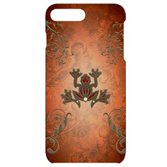 Beautiful Elegant Decorative Frog On Vintage Background Iphone 7/8 Plus Black Uv Print Case