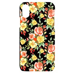 Flowers Watercolor Iphone X/xs Black Uv Print Case