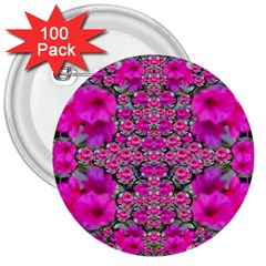 From The Sky Came Flowers In Peace 3  Buttons (100 Pack)  by pepitasart