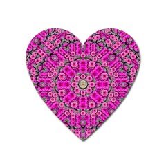 From The Sky Came Flowers In Calm Bohemian Peace Heart Magnet by pepitasart