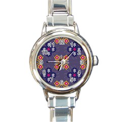 Morocco Tile Traditional Marrakech Round Italian Charm Watch