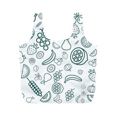 Fruit Material Design Transparent Full Print Recycle Bag (m) by Pakrebo