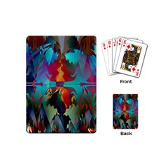 Background Sci Fi Fantasy Colorful Playing Cards Single Design (mini)