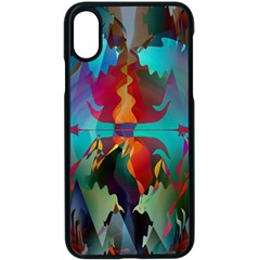 Background Sci Fi Fantasy Colorful Iphone Xs Seamless Case (black)