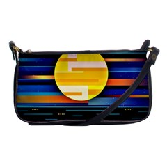 Background Abstract Horizon Shoulder Clutch Bag by Pakrebo