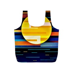 Background Abstract Horizon Full Print Recycle Bag (s) by Pakrebo