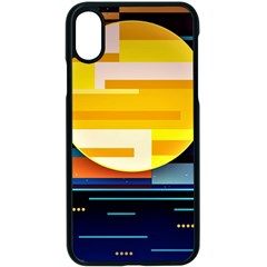 Background Abstract Horizon Iphone X Seamless Case (black)