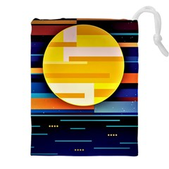 Background Abstract Horizon Drawstring Pouch (xxxl)
