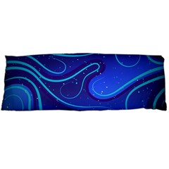 Wavy Abstract Blue Body Pillow Case Dakimakura (two Sides)
