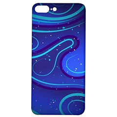 Wavy Abstract Blue Iphone 7/8 Plus Soft Bumper Uv Case by Pakrebo