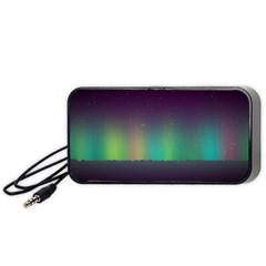 Background Colors Abstract Green Portable Speaker