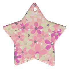 Background Floral Non Seamless Ornament (star)