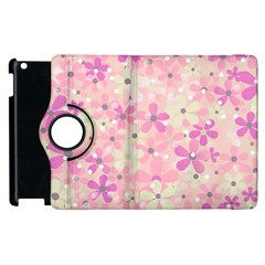 Background Floral Non Seamless Apple Ipad 3/4 Flip 360 Case