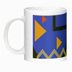 Background Abstract Colors Shapes Night Luminous Mugs