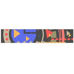 Background Abstract Colors Shapes Large Flano Scarf