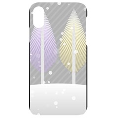 Winter Season Simple Pastels Grey Iphone Xr Black Uv Print Case