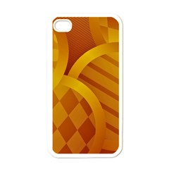 Background Abstract Shapes Circle Iphone 4 Case (white)