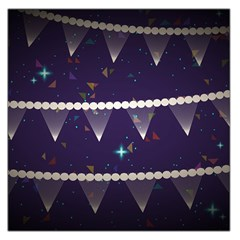 Background Buntings Stylized Large Satin Scarf (square)
