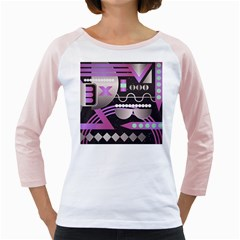 Background Abstract Geometric Girly Raglan