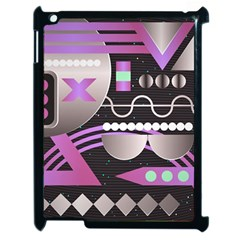 Background Abstract Geometric Apple Ipad 2 Case (black) by Pakrebo