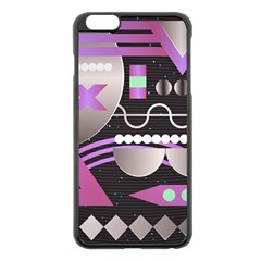 Background Abstract Geometric Iphone 6 Plus/6s Plus Black Enamel Case