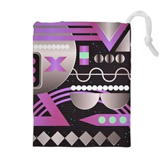 Background Abstract Geometric Drawstring Pouch (xl)