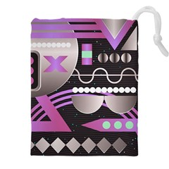 Background Abstract Geometric Drawstring Pouch (xxxl)