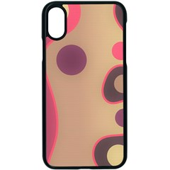 Background Wavy Pinks Bright Iphone X Seamless Case (black)