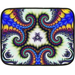 Abstract Texture Fractal Figure Double Sided Fleece Blanket (mini)
