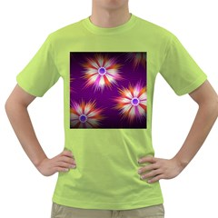 Floral Non Seamless Pattern Purple Green T Shirt