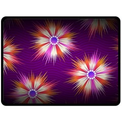 Floral Non Seamless Pattern Purple Double Sided Fleece Blanket (large)