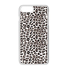 3d Leopard Print Black Brown Iphone 8 Plus Seamless Case (white)