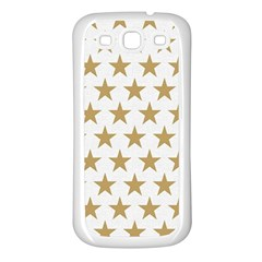 Gold Star Samsung Galaxy S3 Back Case (white) by WensdaiAddamns