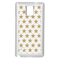 Gold Star Samsung Galaxy Note 4 Case (white) by WensdaiAddamns
