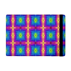 Groovy Blue Pink Yellow Square Pattern Ipad Mini 2 Flip Cases by BrightVibesDesign